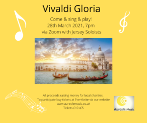 Image and invitation to Vivaldi Gloria sing and play